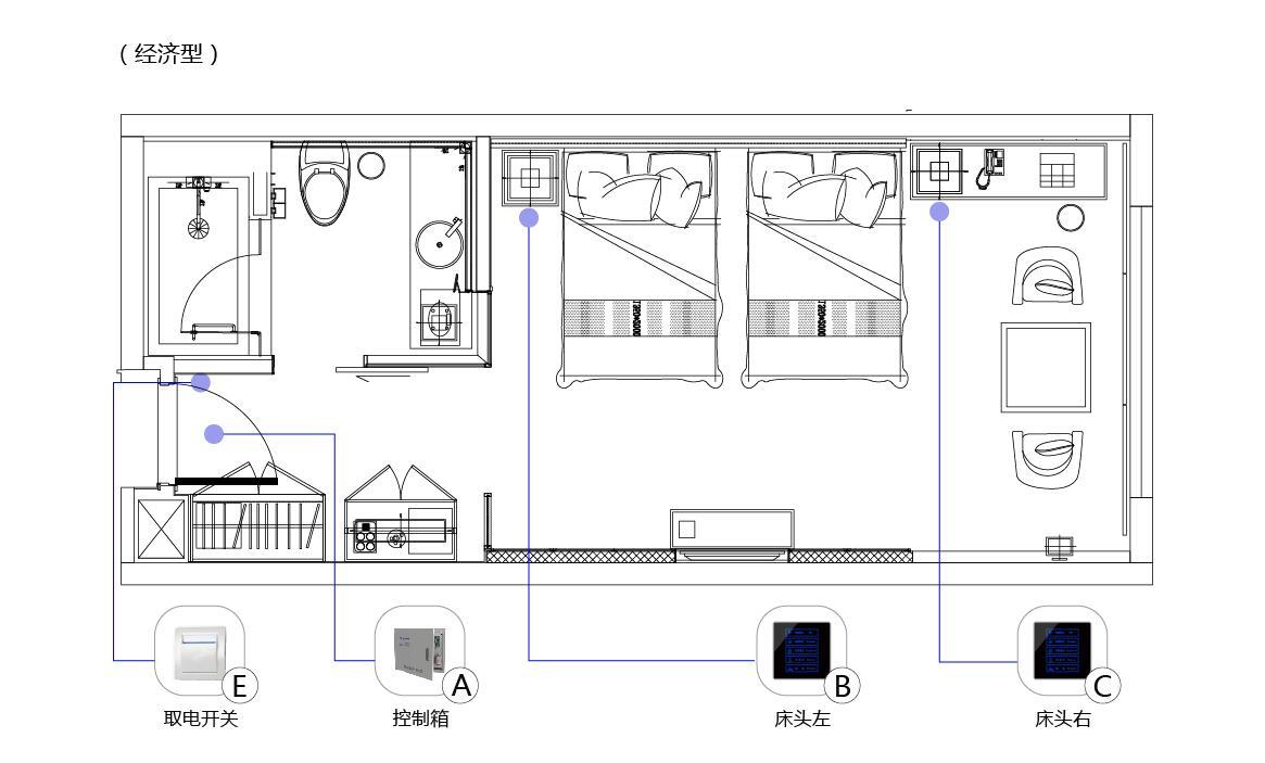 经济型酒店客房控制系统